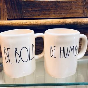 Rae Dunn BE HUMBLE, BE BOLD Mugs